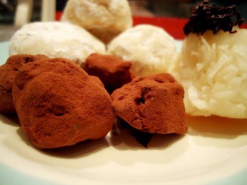 chocolate truffles : bon bons : coconut pyramids, On BradstreetCoconut Pyramid, Christmas 2012, Chocolates Truffles, Candy, Wild Hunting, Mothers Night, Winter Solstice, Christmas Ideas, Chocolate Truffles