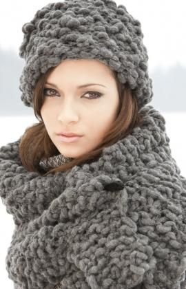 Free knitting pattern:  Russian inspired hat and stole.