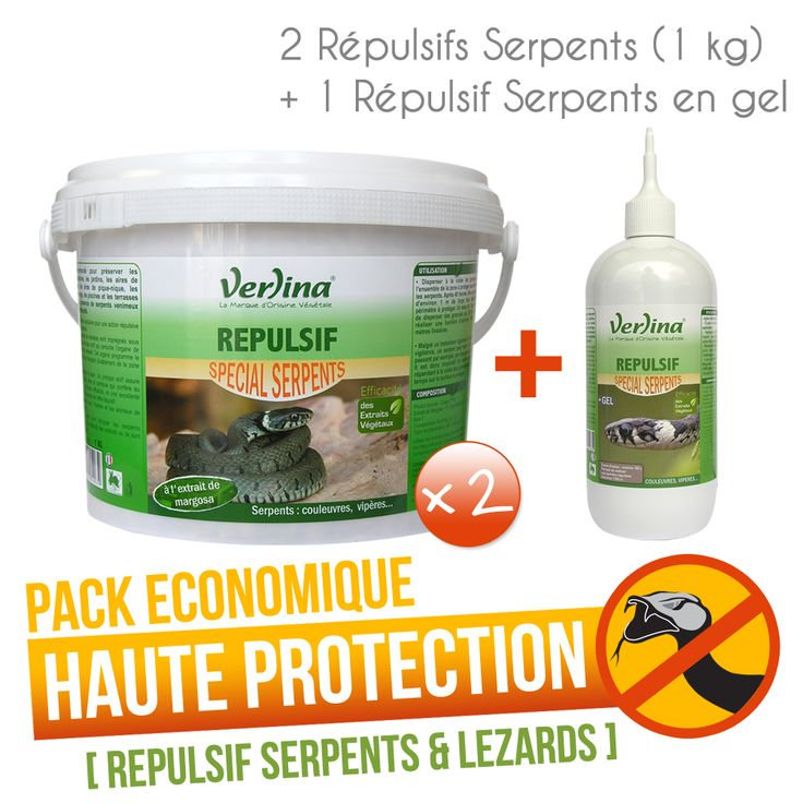 Pack haute protection répulsif serpent --- http://www.verlina.com/animaux-repulsifs-serpents-granules-gel_6_vzrs001l002.html