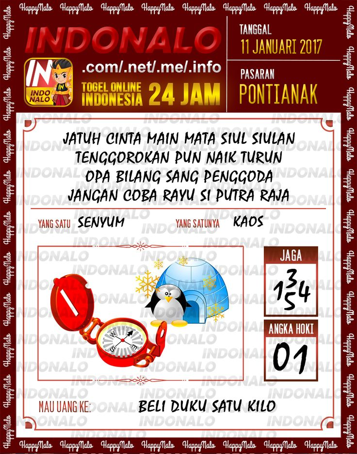 Kode Kumat 3D Togel Wap Online Live Draw 4D Indonalo Pontianak 11 Januari 2017