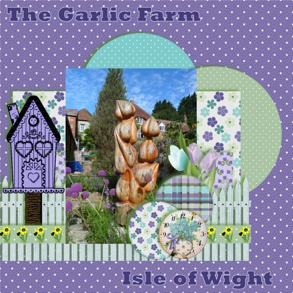 The Garlic Farm by twizzle. Kit: Sew Spring by Country Liv's Graphics http://scrapbird.com/designers-c-73/a-c-c-73_514/country-livs-graphics-c-73_514_351/clgraphics-sew-spring-page-kit-p-17713.html