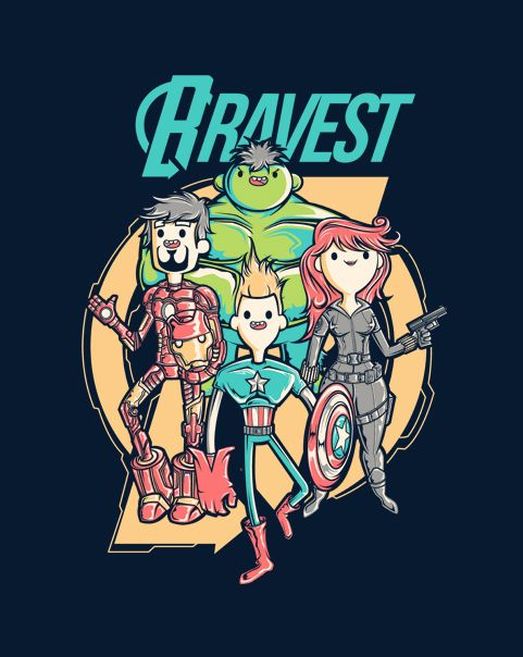 Bravest Avengers T-Shirt | $10 Bravest Warriors / Avengers mashup tee at ShirtPunch today only!