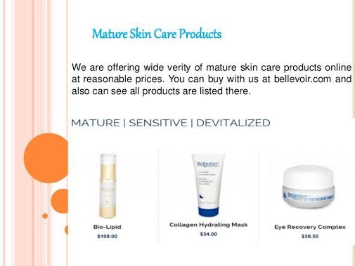 mature Skin care Products