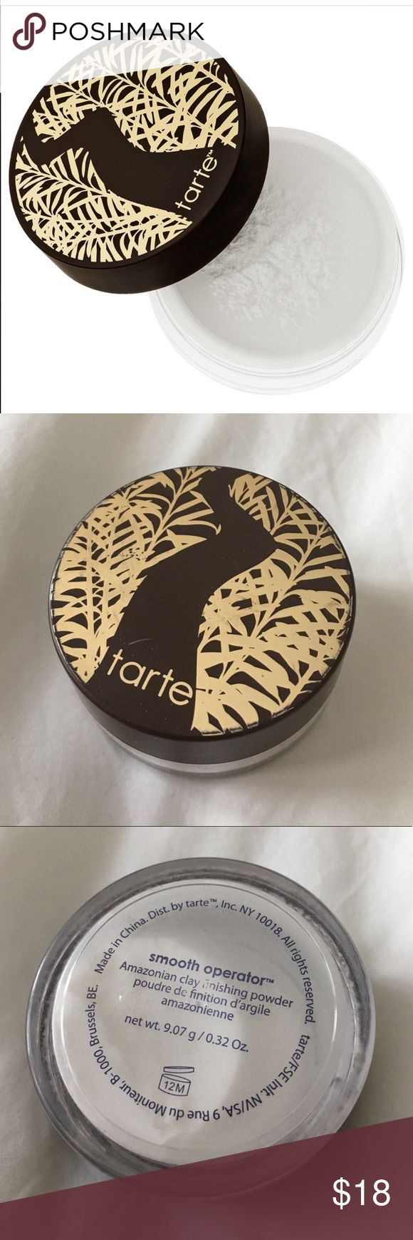 🌟Tarte Smooth Operator🌟 Amazonian clay finishing powder by Tarte. It sets your makeup and reduces the look of imperfections. Used 3X. It's great makeup addition. tarte Makeup Face Primer