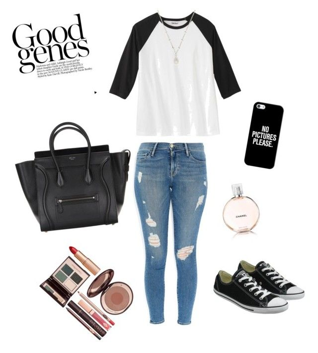 """Untitled #7"" by suvisfi on Polyvore featuring Frame Denim, Converse, Favero, Casetify, Chanel and Charlotte Tilbury"