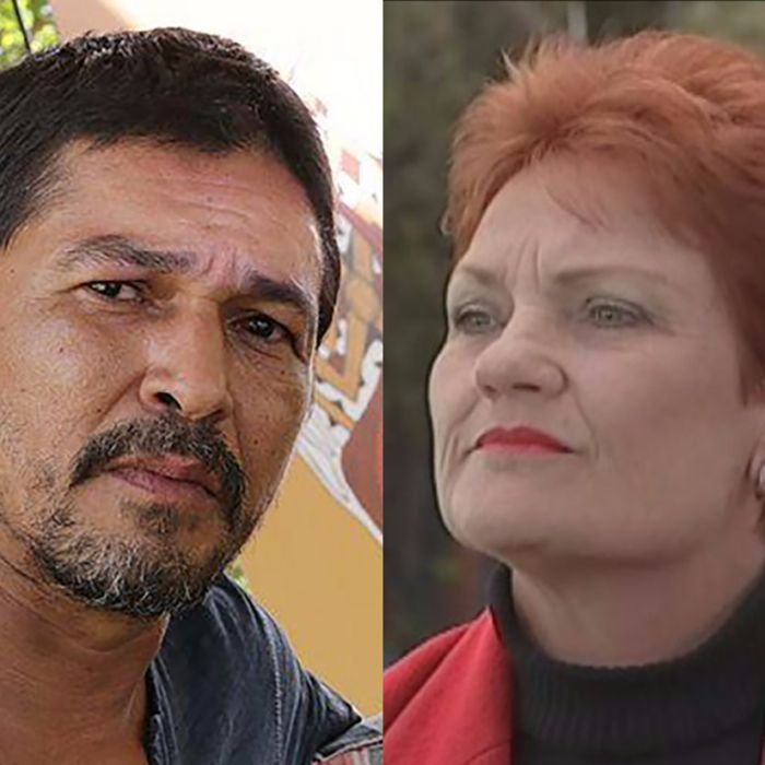 Organisers of the Cairns Indigenous Art Fair said tensions began rising yesterday when Ms Hanson turned up with a Channel Nine crew.