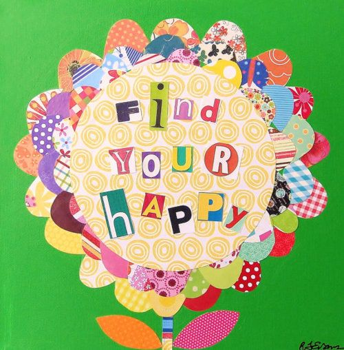 Find your happy: Happy Thoughts, Heart Happy, Homeschool Art, Girly Stuff, 10 Prints, Happy Doe, Follow Posts, Beautiful Art, Art Projects