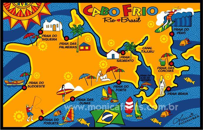 CABO FRIO - Mapa - RJ