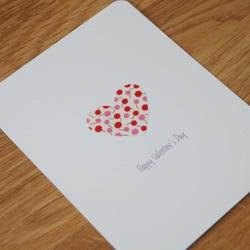 fabric heart card