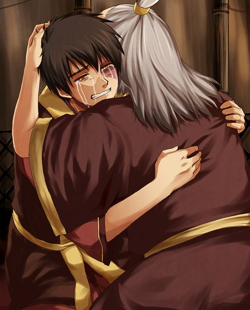 Yes, I'll admit I started crying a bit at this part. They'd both come so far, and traveled so long... and Zuko had learned so much... how could I not?