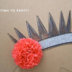 20 DIY Crowns and Tiaras - Perfect for New Year's Eve! | Happiness is Homemade