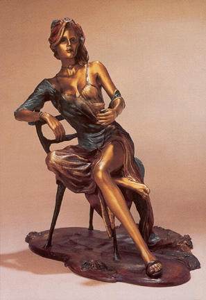 Isaac Maimon - Negligee Bronze Sculpture