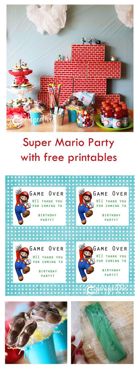 The Mario Party with Printable Invitations — Perspective by CCMcAfee