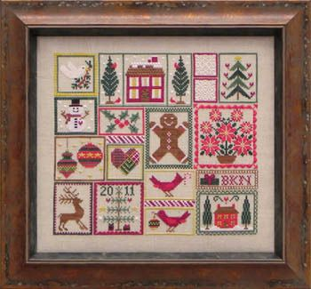 Pocketful of Peppermint Cross Stitch Pattern