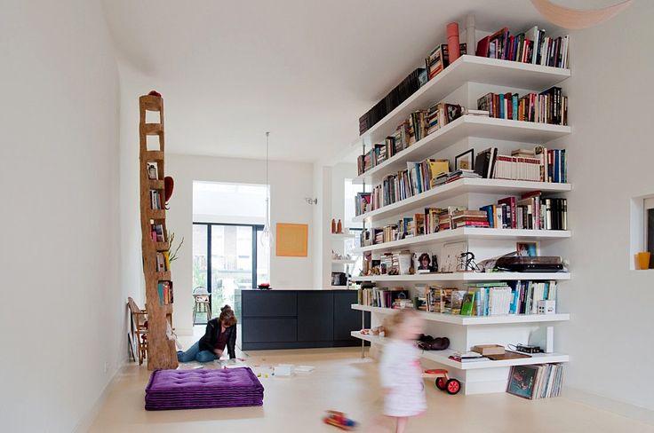 Wandplank Keuken Landelijk : Verbouwing dubbel benedenhuis Amsterdam Meer interieur inspiratie