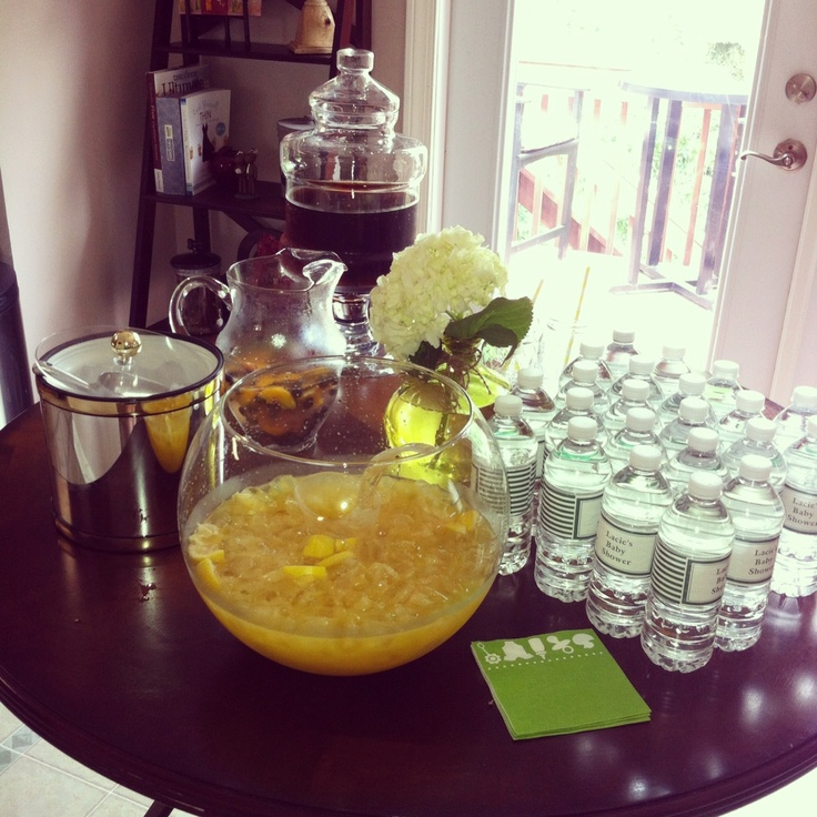 Sugar Free Punch For Baby Shower: Lacie's Baby Shower - Drink Table