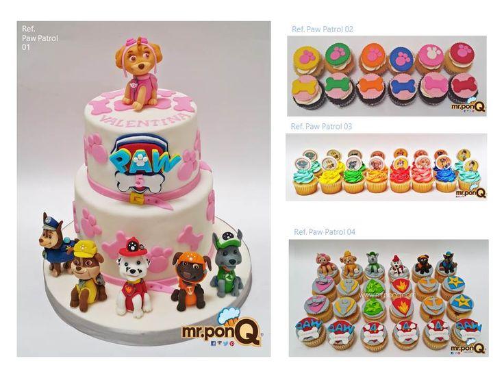 Torta, cupcakes y galletas Paw Patrol