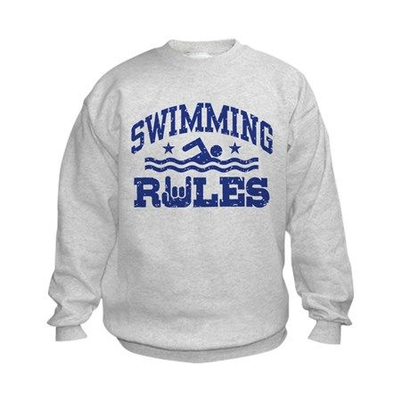 Swimming Rules Kids Sweatshirt