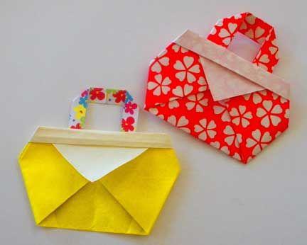 crafts for kids: folding cute bag | make handmade, crochet, craft
