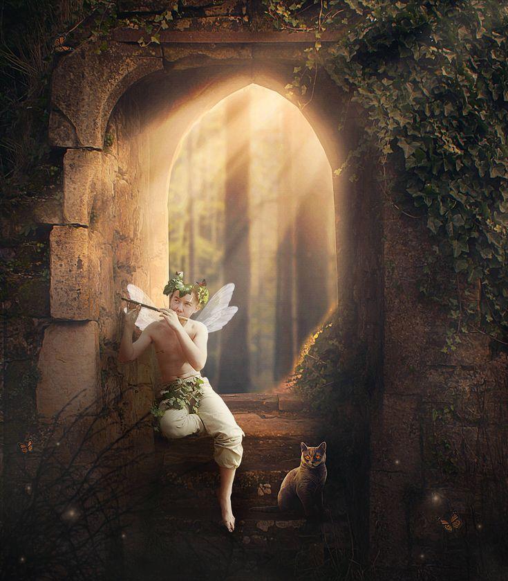 """Magic is a naughty beast.""  ― Rob E. Boley  #digitalbackground #digitalbackdrop #photoshop #composite #fairytale #magic #photomanipulation"
