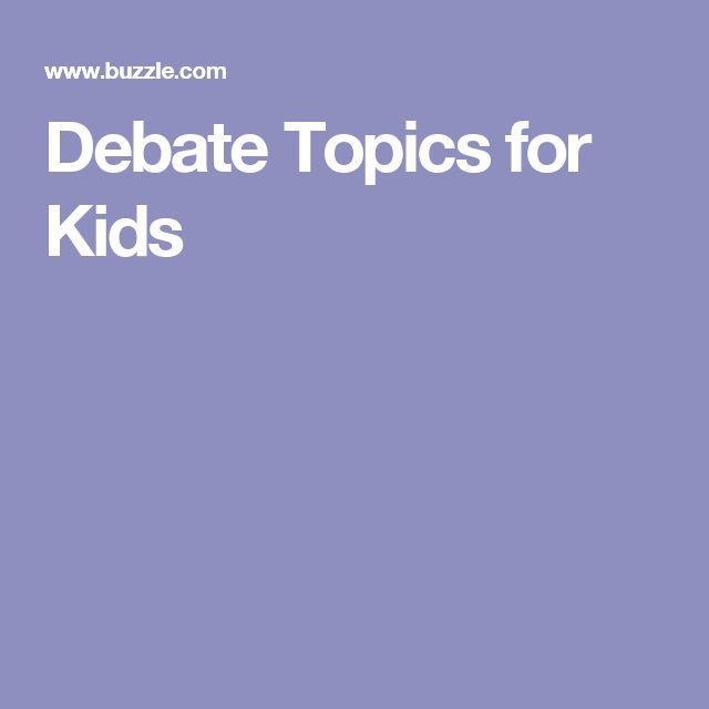 Debate Topics for Kids