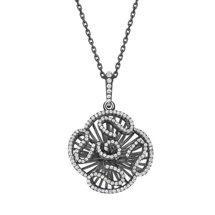 CASCADE PENDANT (SMALL) - SILVER/BLACK FINISH - BY FEI LIU - SAVE £15! Regular Price: £150.00 Special Price: £135.00 #pendant #cascade #silver #black #jewellery