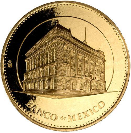 Medallas conmemorativas, oro, Banco de México