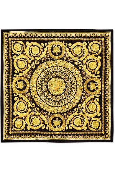 Versace   Foulard en serge de soie imprimée   NET-A-PORTER.COM ... c5b223cce15