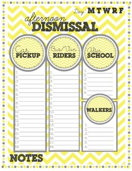 Sunny Days Back to School Organizational printables for teachers