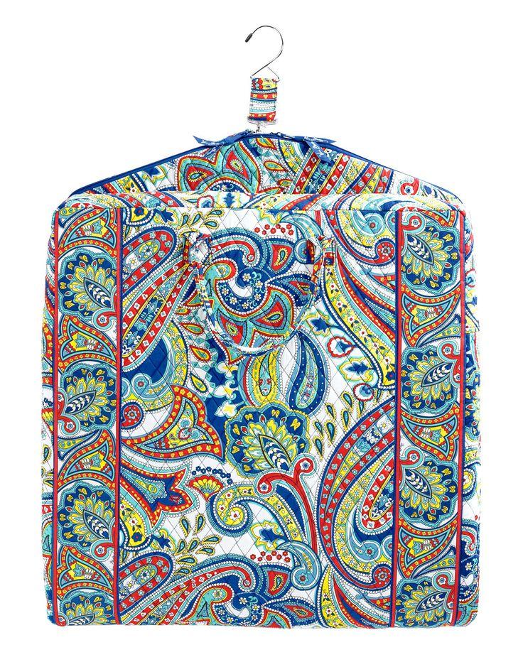 Vera Bradley Garment Bag in Marina Paisley