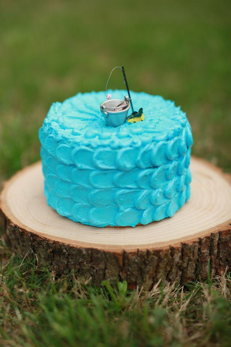 Smash cake session children fishing and smash cakes for Fishing birthday cake