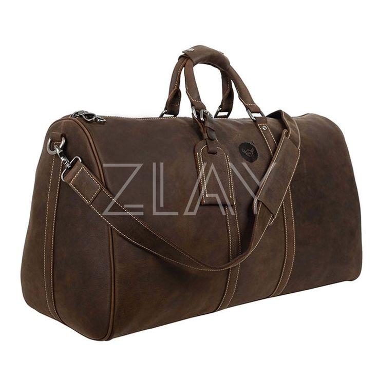 Men's Classy Large Bridle Leather Holdall Bag