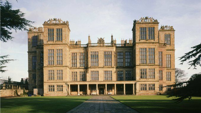 View of Hardwick Hall from the gatehouse
