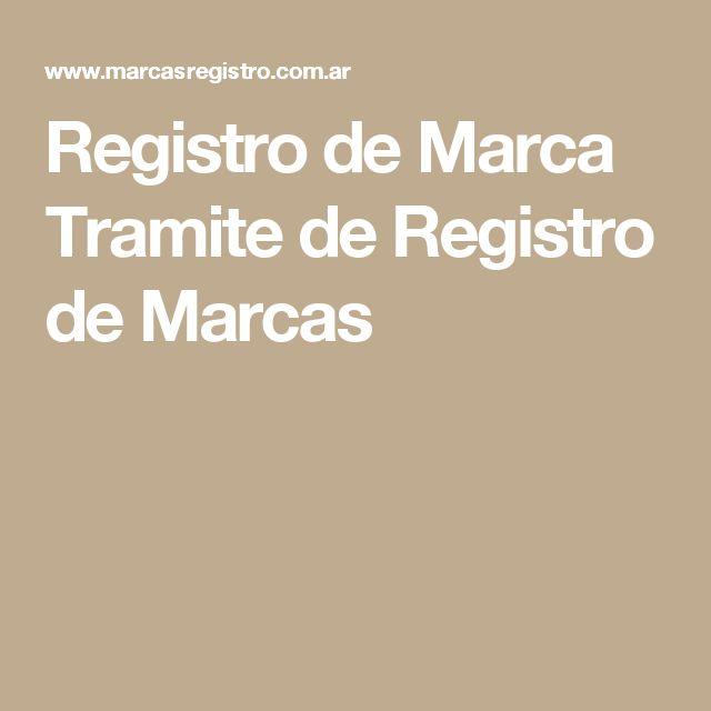 Registro de Marca Tramite de Registro de Marcas