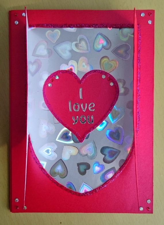 Handmade C6 Pop Out Greeting Card  I Love You by BavsCrafts