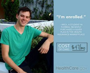 Mick, a student in Florida, recently purchased a silver plan from the health insurance marketplace.