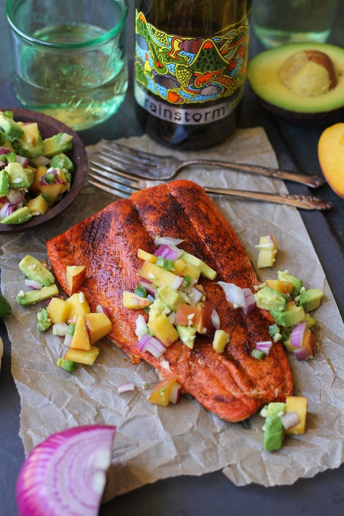 Sockeye salmon with a smoky dry rub broiled to perfection with peach and avocado salsa – a healthy dinner that comes together in less than 30 minutes! What are your plans for the 4th of July?…