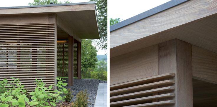Super mooi hout. Leverancier is in Belgie. http://www.lloydhamilton.be/fr/modern-outdoors/