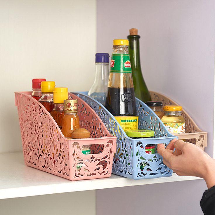 חיים פשוטים פלסטיק עבה שולחן העבודה של סל אחסון ושונות משפחת חדר אמבטיה סל אחסון ארגונית מיכל וינטג עיפרון עט