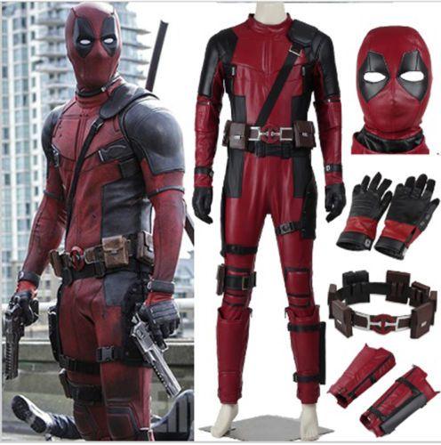 Top quality Deadpool Movie Costume Supehero Custom-Made Full Set PU Adult Men L   Objetos de colección, Cómics, Ropa y accesorios   eBay!
