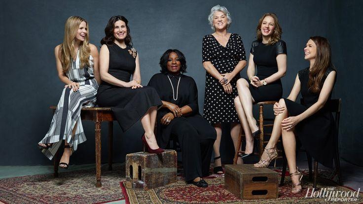 Tyne Daly, Sutton Foster, LaTanya Richardson Jackson, Idina Menzel, Jessie Mueller and Kelli O'Hara (2014 Tony nominees)