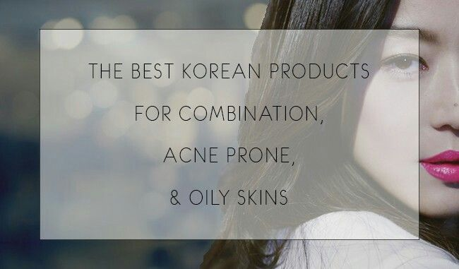 Korean skincare products for oily combo skin