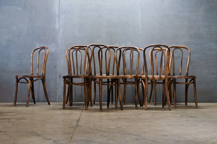 Austrian Thonet Bentwood Cafe Chairs : 20th Century Vintage Industrial : Modern Fifty