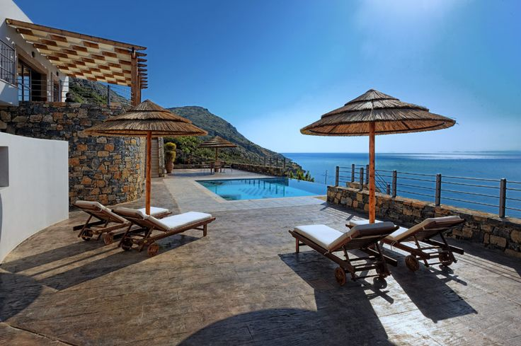 Castro Villa with private pool in Elounda Maris Villas, Elounda Crete island. Elounda Maris Villas is an elegant retreat nestled in the Bay of Elounda Crete, Greece. Our luxury holiday villas effortlessly connect captivating charm and comfort