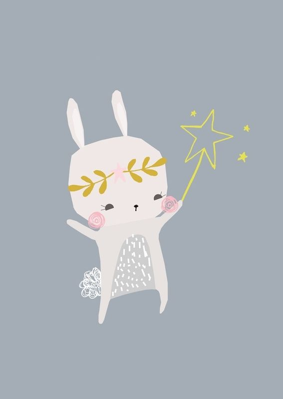 Vicky Riley 'Ansichtkaart Magical Bunny'