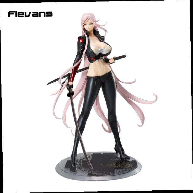 41.15$  Buy now - http://aliqn9.worldwells.pw/go.php?t=32713223096 - Anime Triage X Yuko Sagiri Darkness Ver. 1/7 Scale Painted Figure Collectible Model Toy black/white 26cm