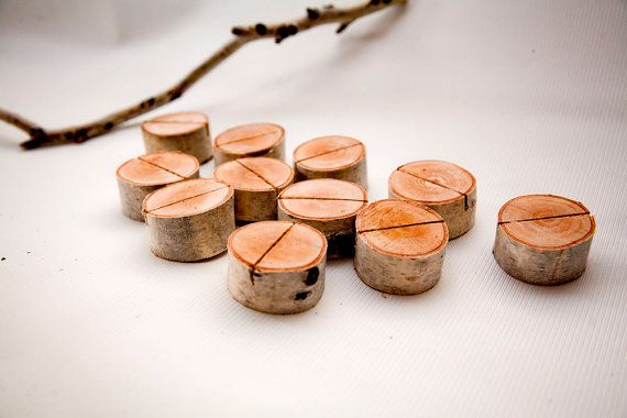 Hey, I found this really awesome Etsy listing at https://www.etsy.com/listing/221016549/10-birch-bark-place-card-holders-for