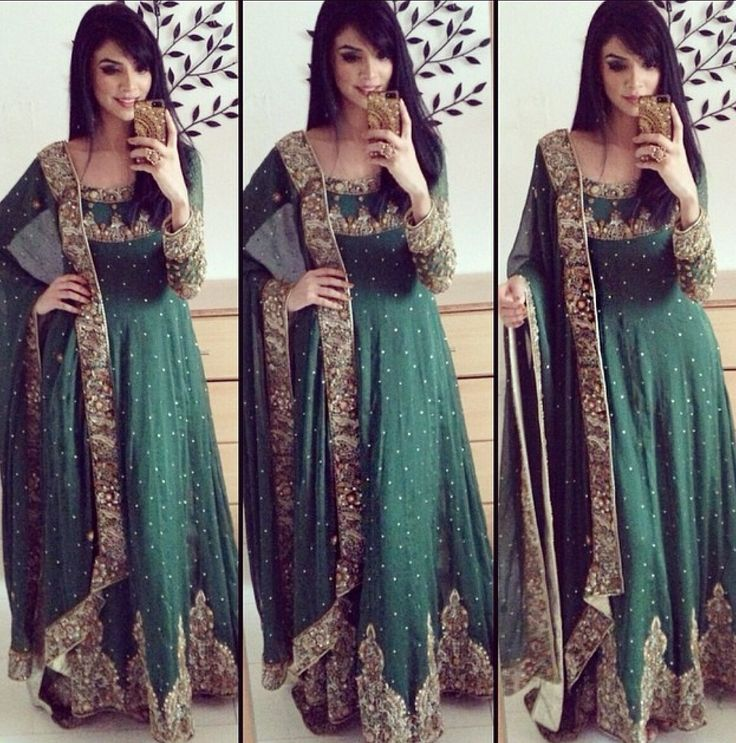 Green Indian dress