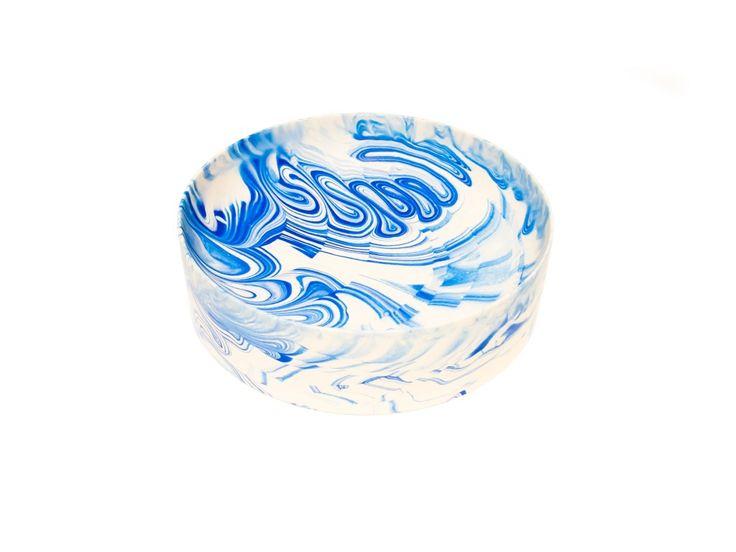 Poured Bowl_Large Blue_Troels Flensted