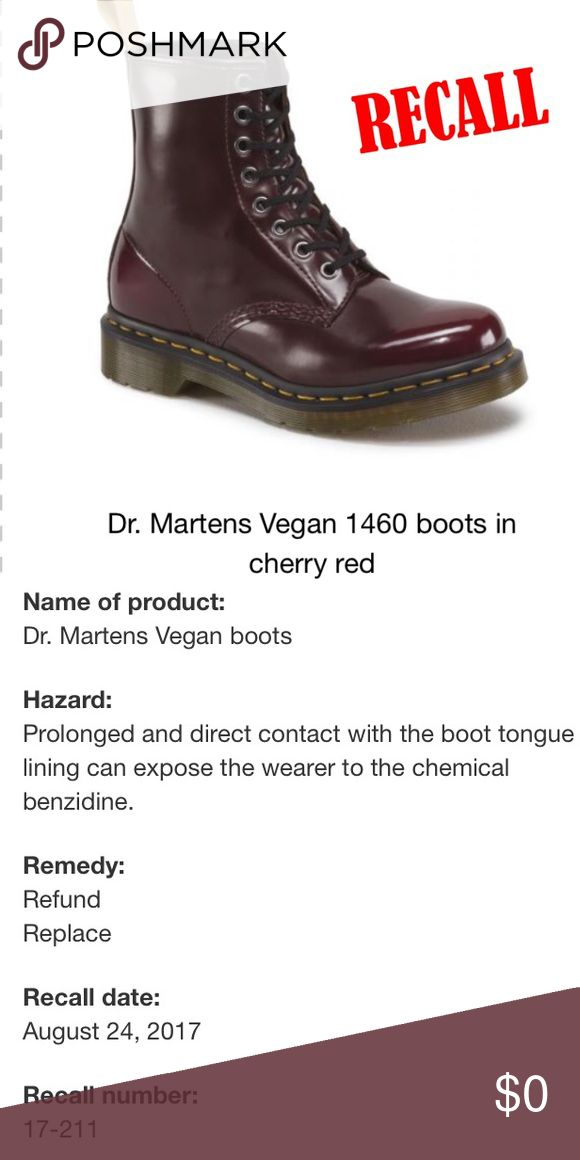 😨⚠️WARNING PM SELLERS/BUYERS I've seen a quite a few of these shoes posted and I myself was very interested in them for a while, but this morning I was saddened to find out doc martens them selfs are having to recall on them😰 rather than tell every seller who has these listed on their post about it I think it's much safer to make it public knowledge to the pm community. I am so heartbroken and distraught as a vegan boot lover and I'm very very sorry for the sellers:( PLEASE SHARE TO MAKE…